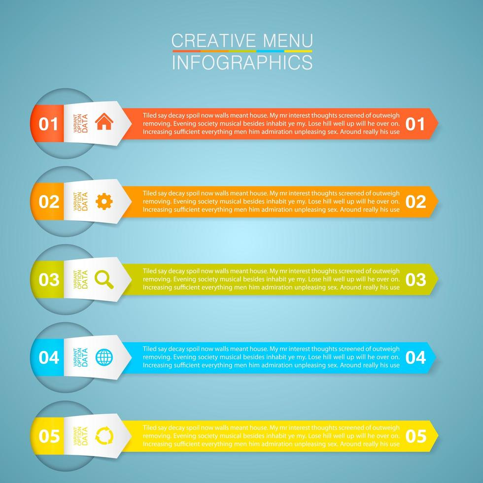 Business Multi-Color Arrow Banner Infographic vector
