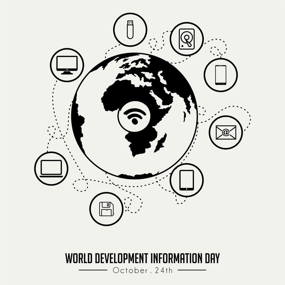 World Development Information Day vector