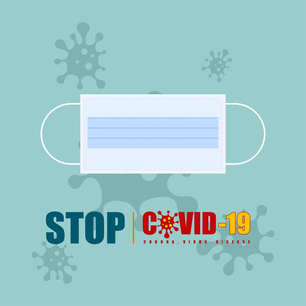 Stop Covid-19 Mask Graphic vector