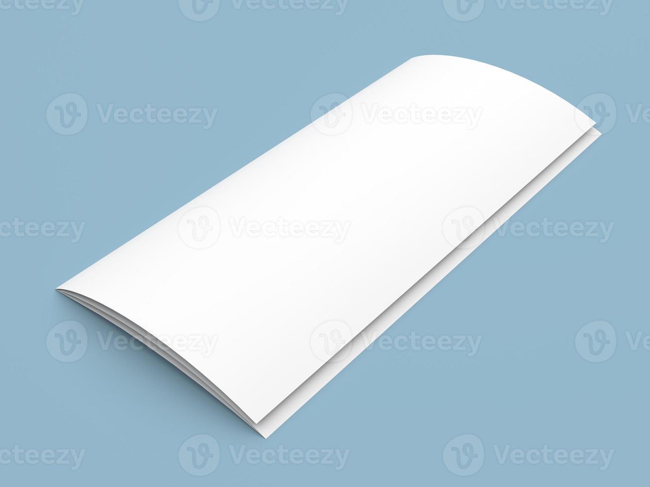 folleto tríptico en blanco folleto de papel blanco foto