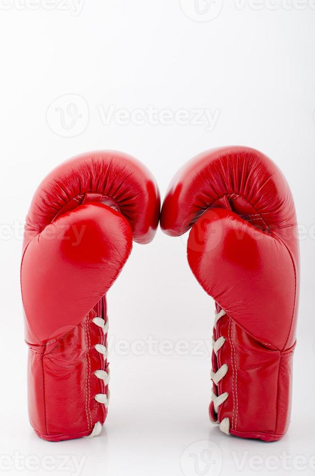 Red Boxing gloves isolated with white blackground photo