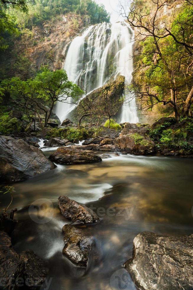 Klong Lan waterfall, evergreen forest photo