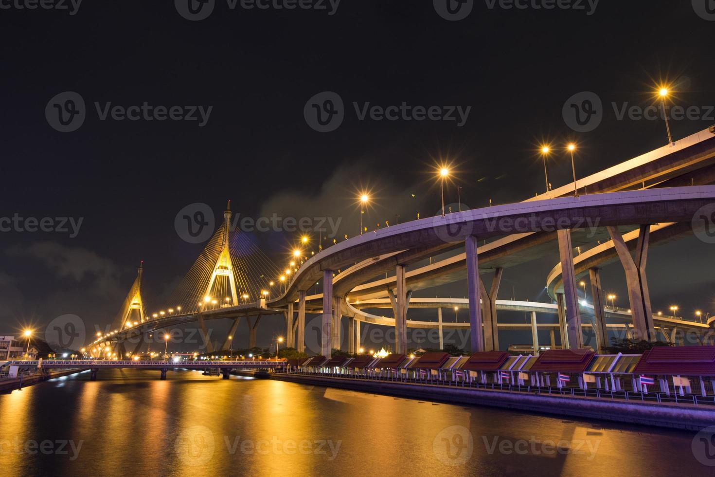 el puente de la curva @ bhumiphon foto