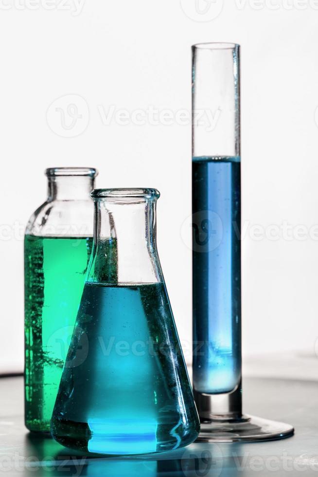 tubos en el laboratorio foto