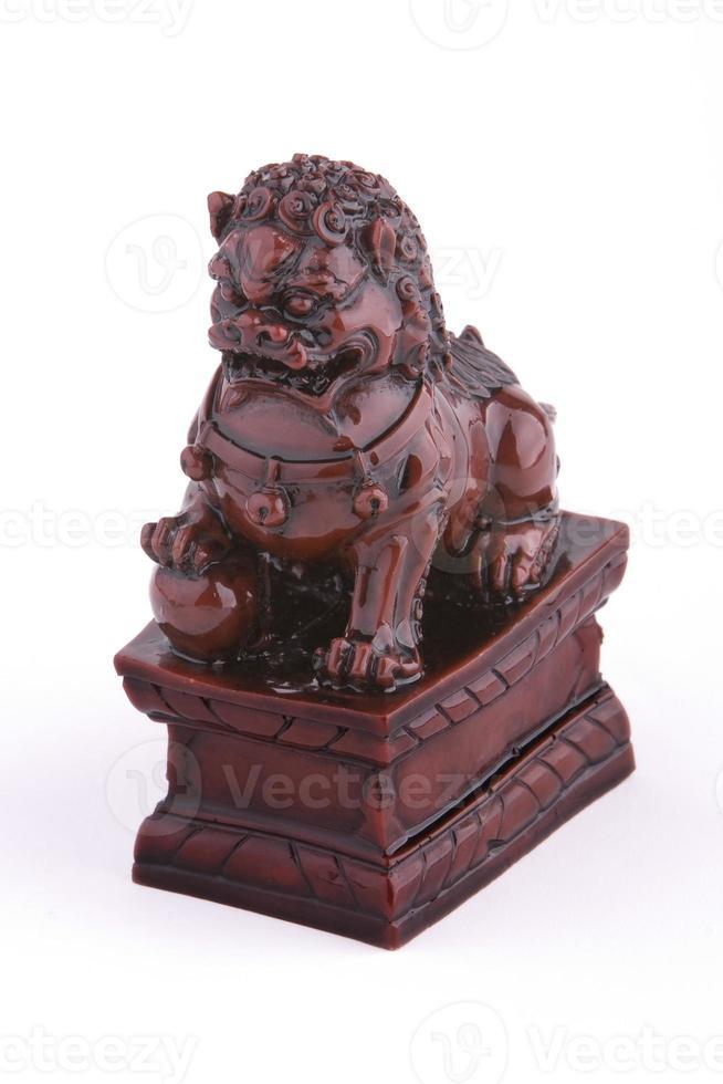 león guardián de la cerámica china foto