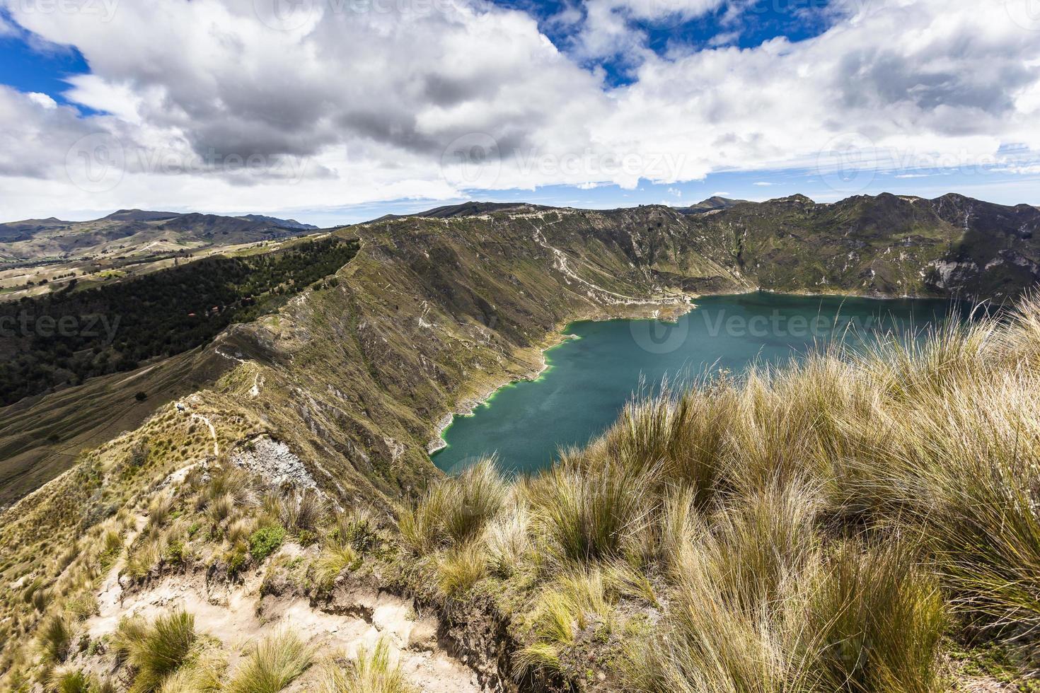 Quilotoa crater lake, Ecuador photo