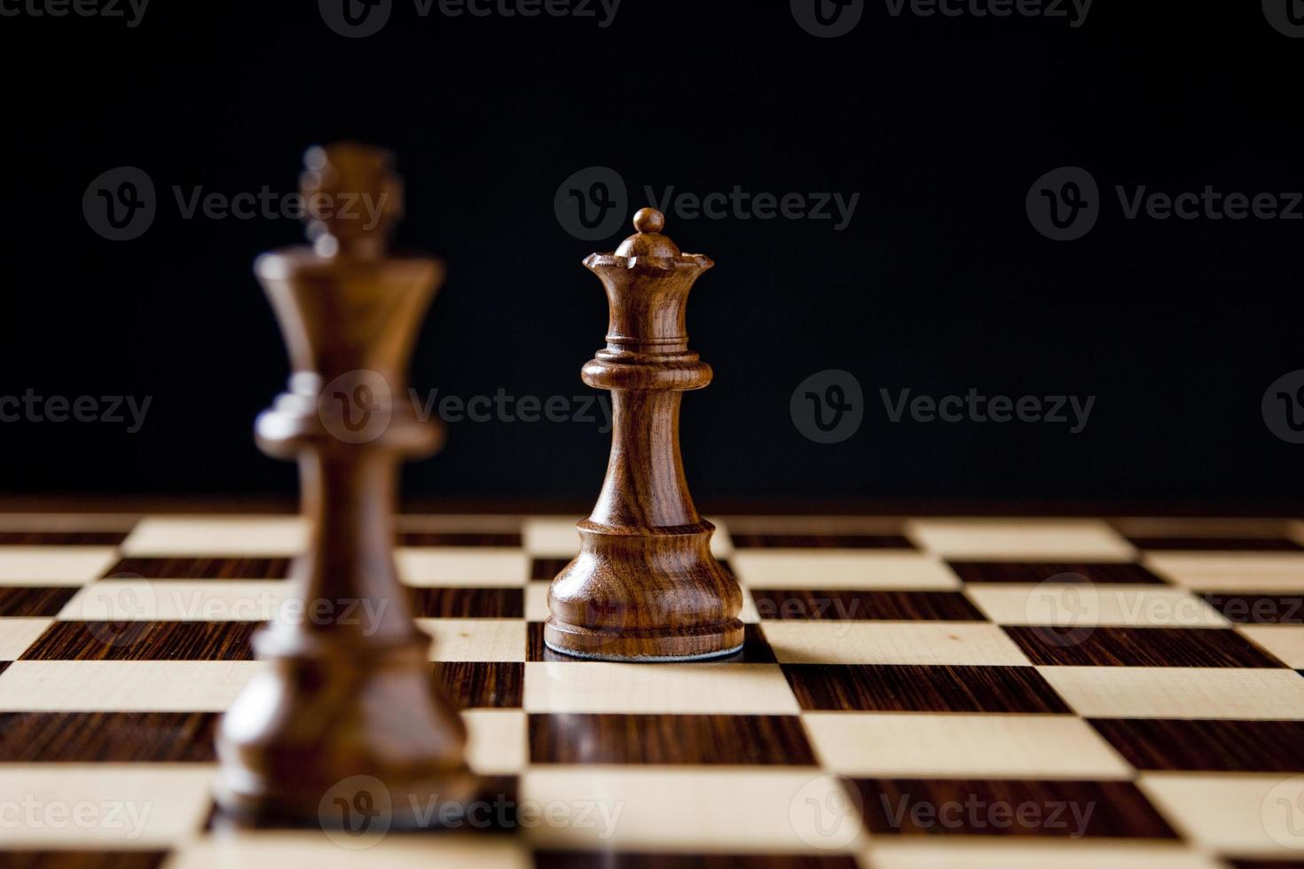 ajedrez rey y reina foto