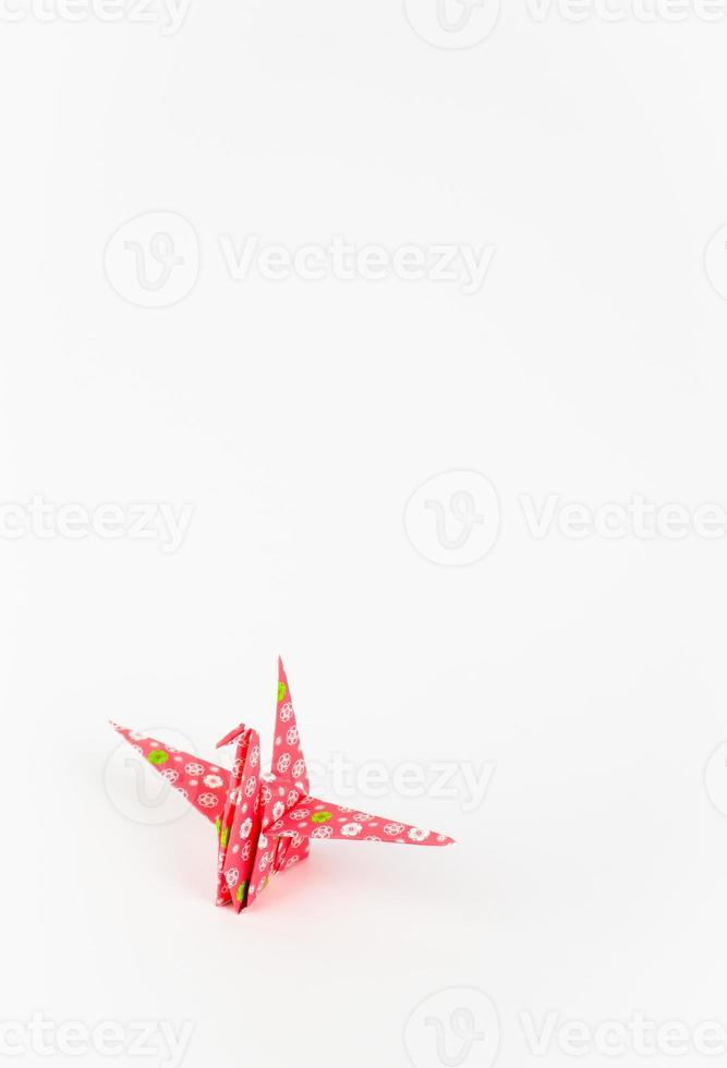 grulla de origami foto