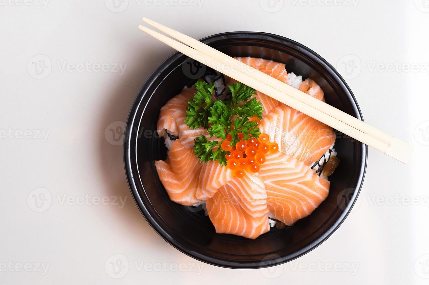 sushi, estilo de comida japonesa. foto