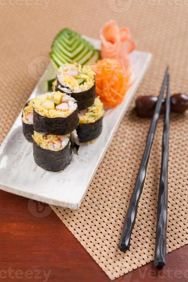 comida japonesa de fusión foto