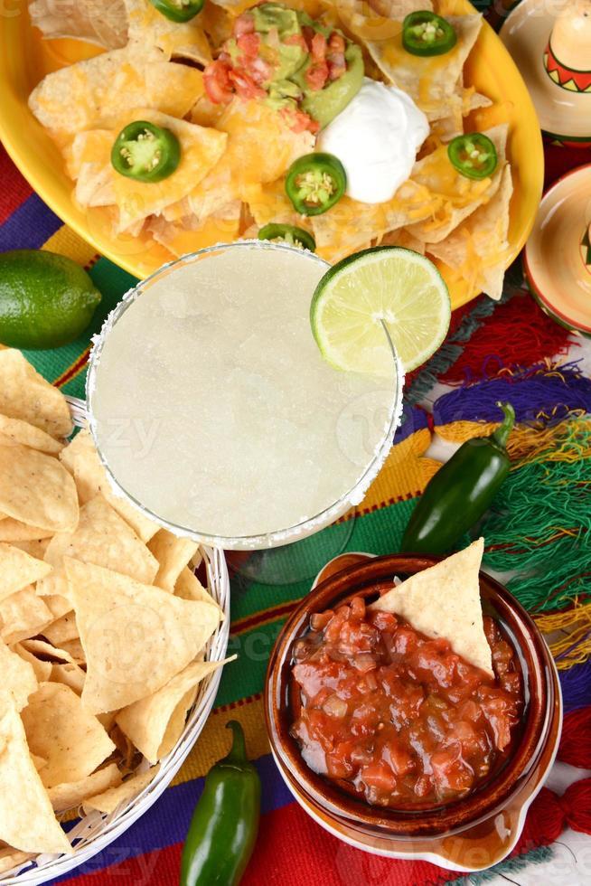 margarita y comida mexicana foto