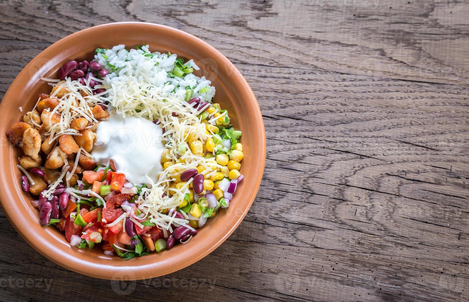 Chicken burrito bowl photo