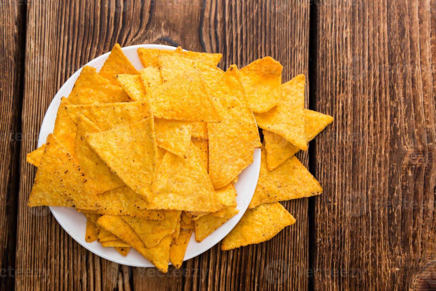 porción de nachos foto