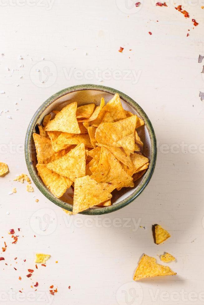 tazón de nachos foto