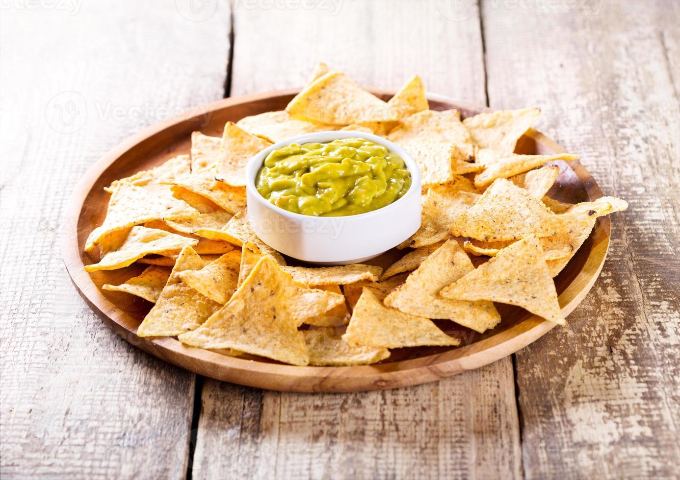 nachos with guacamole photo