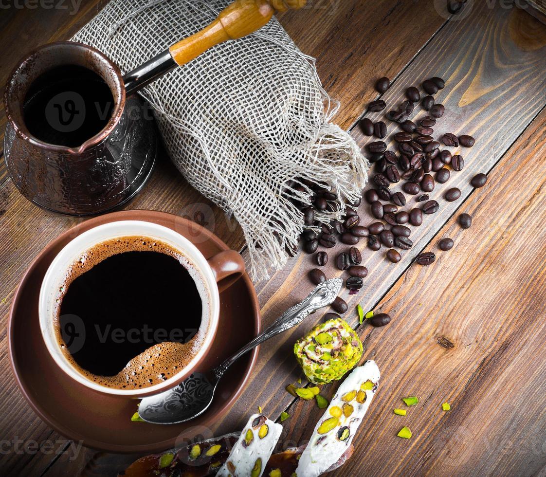 delicias turcas y café turco foto