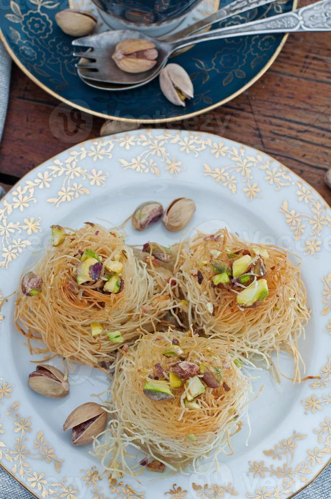 Traditional Middle Eastern dessert baklava photo