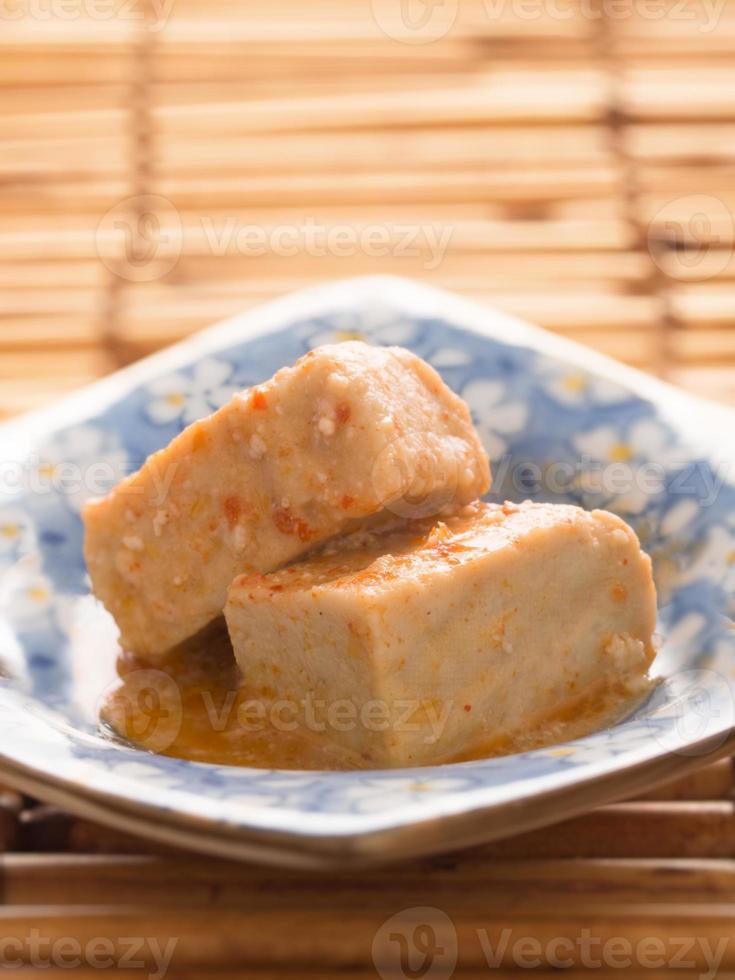 chili fermented bean curd tofu photo