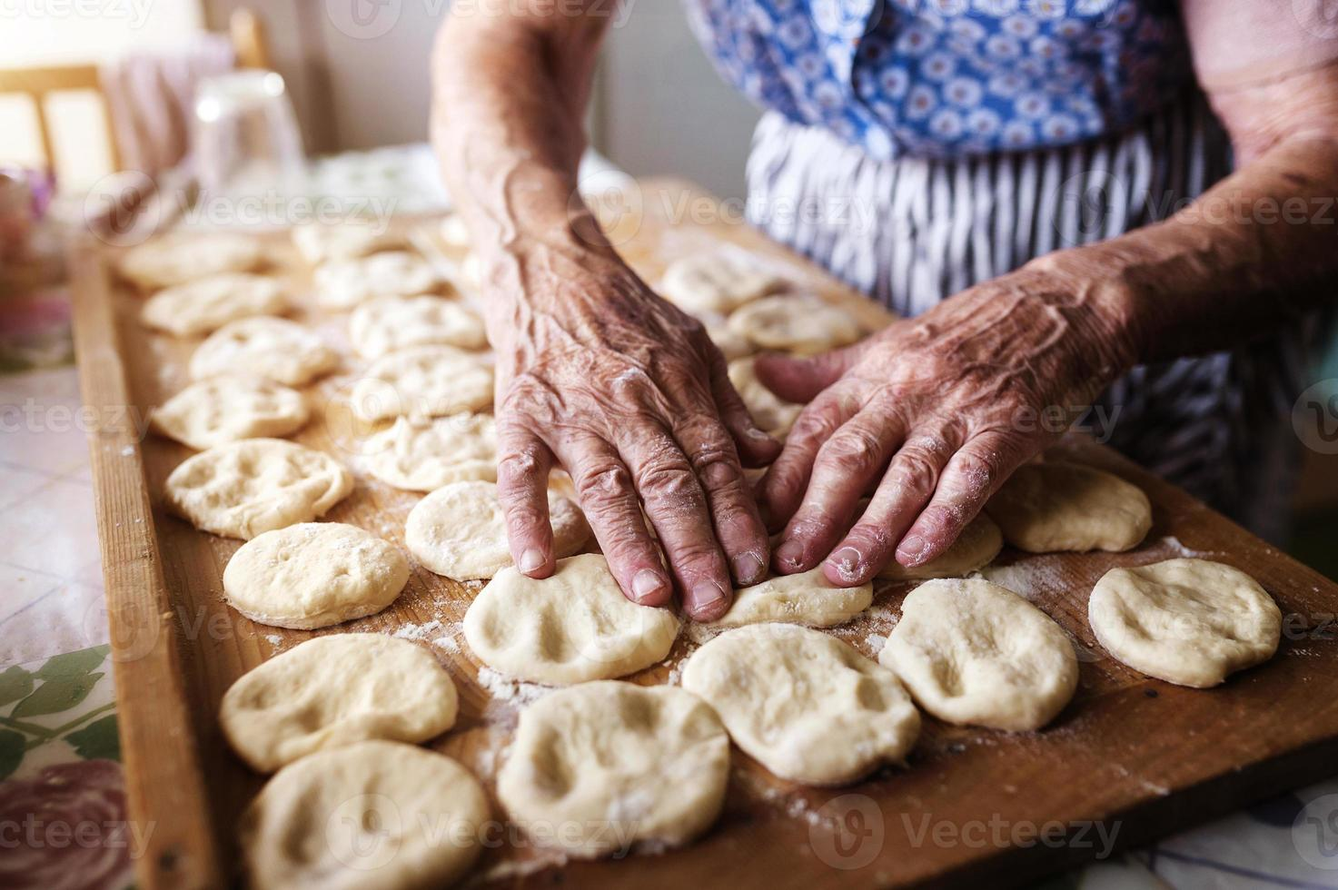 Senior woman baking photo