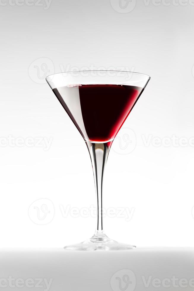 Cocktail isolated on white photo