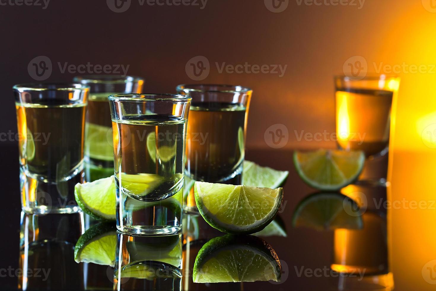 tequila en limoen foto