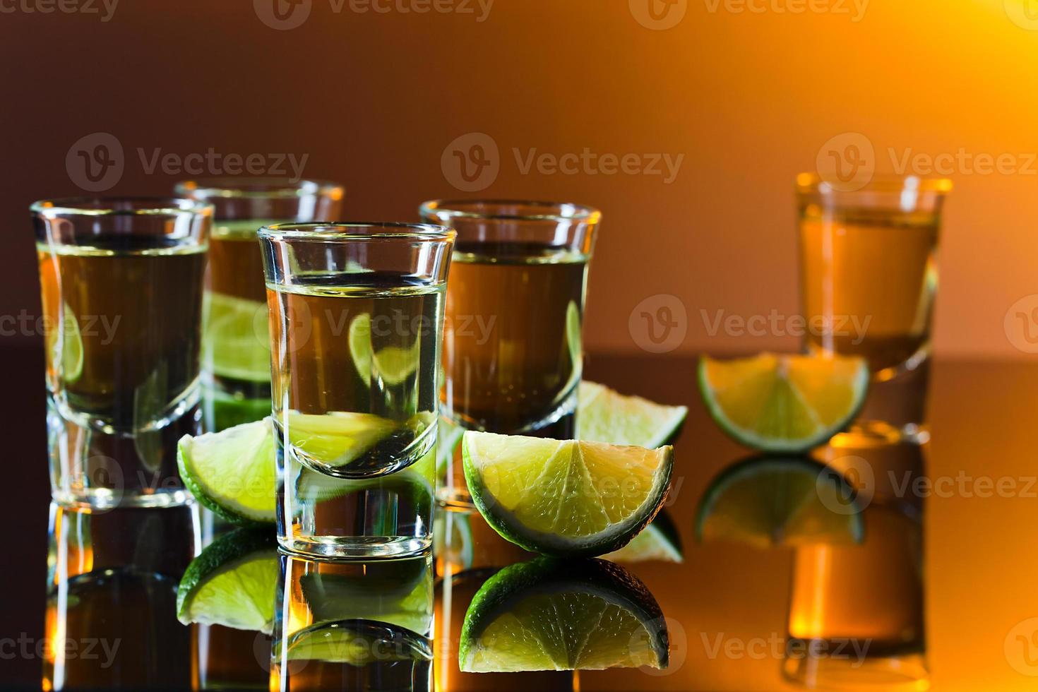tequila and lime photo