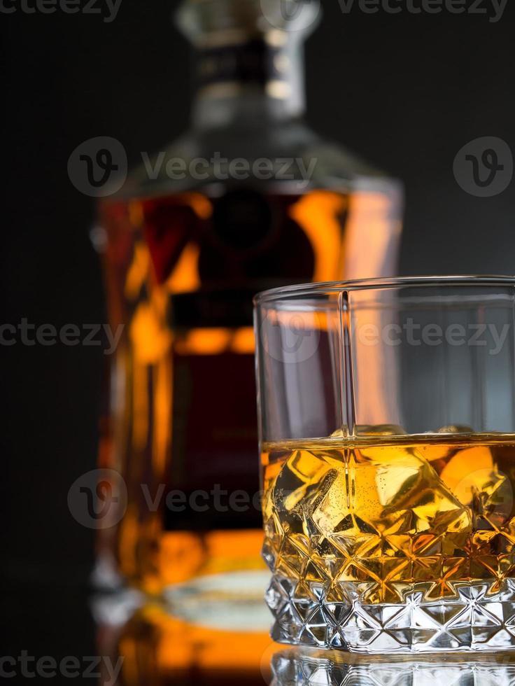 Whisky on the rocks photo