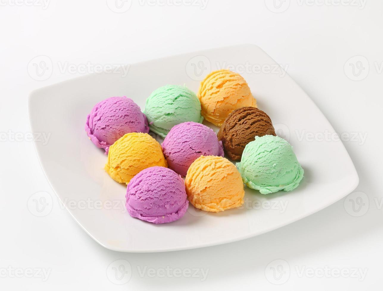 helado variado foto