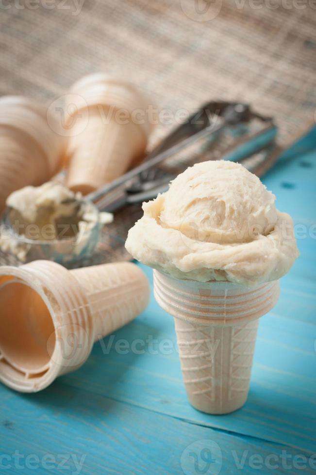 Ingredients for homemad ice cream photo