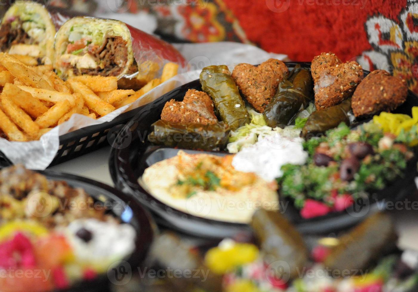 enfoque de comida mediterránea foto