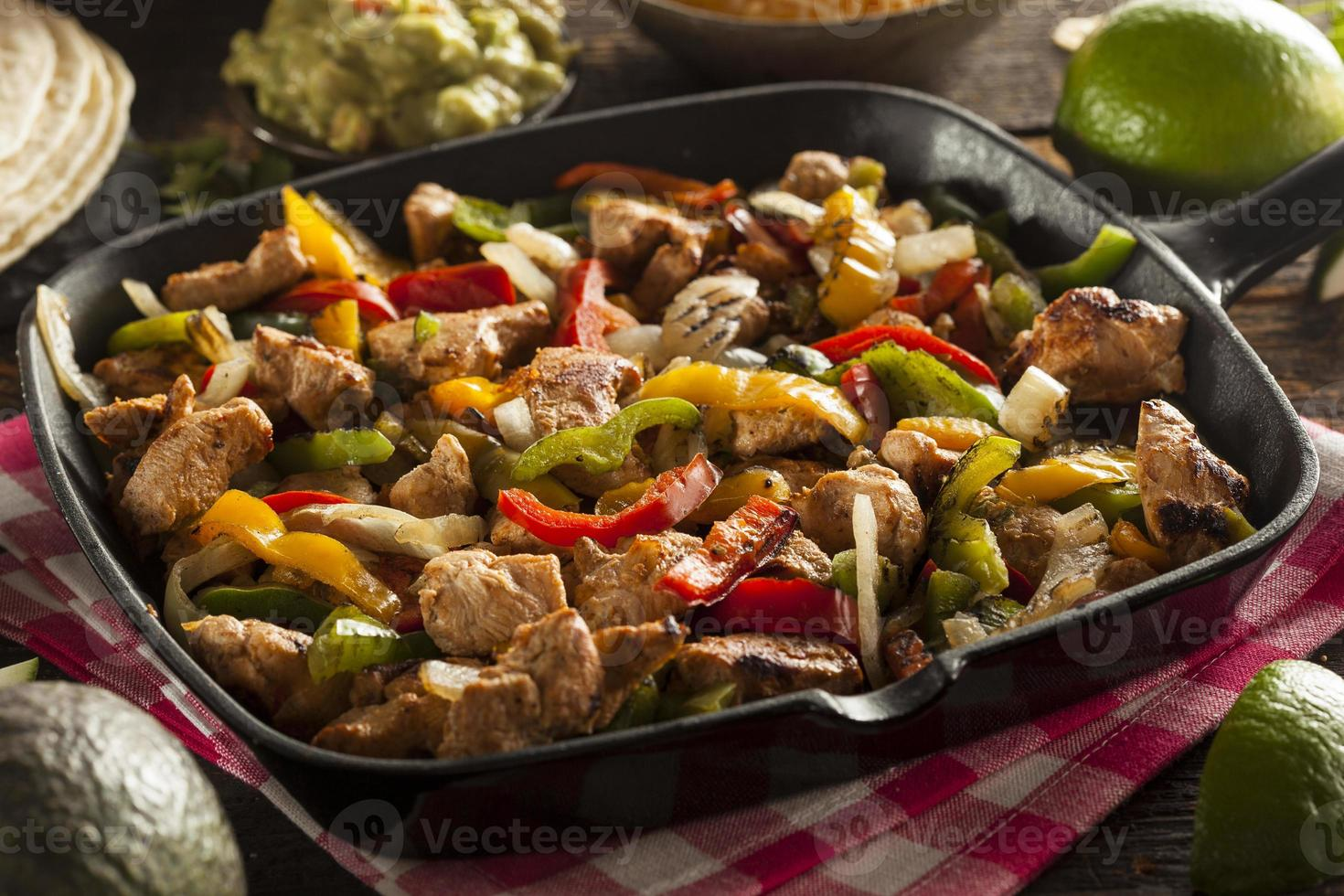 Homemade Chicken Fajitas with Vegetables photo