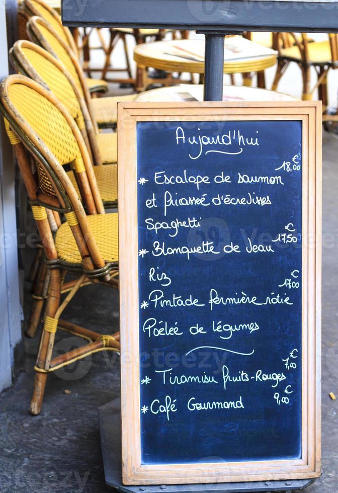 Café menu board photo