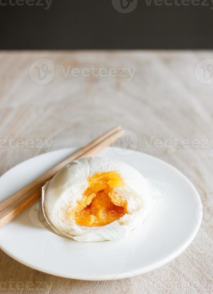 Chinese steamed bun photo