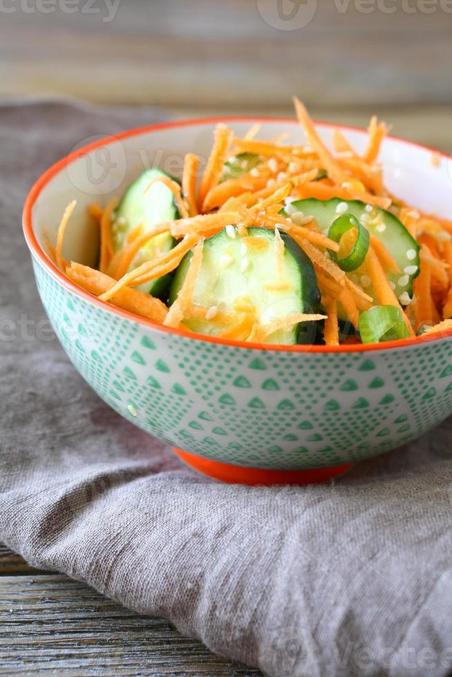 Light salad with vegetables in a bowl photo