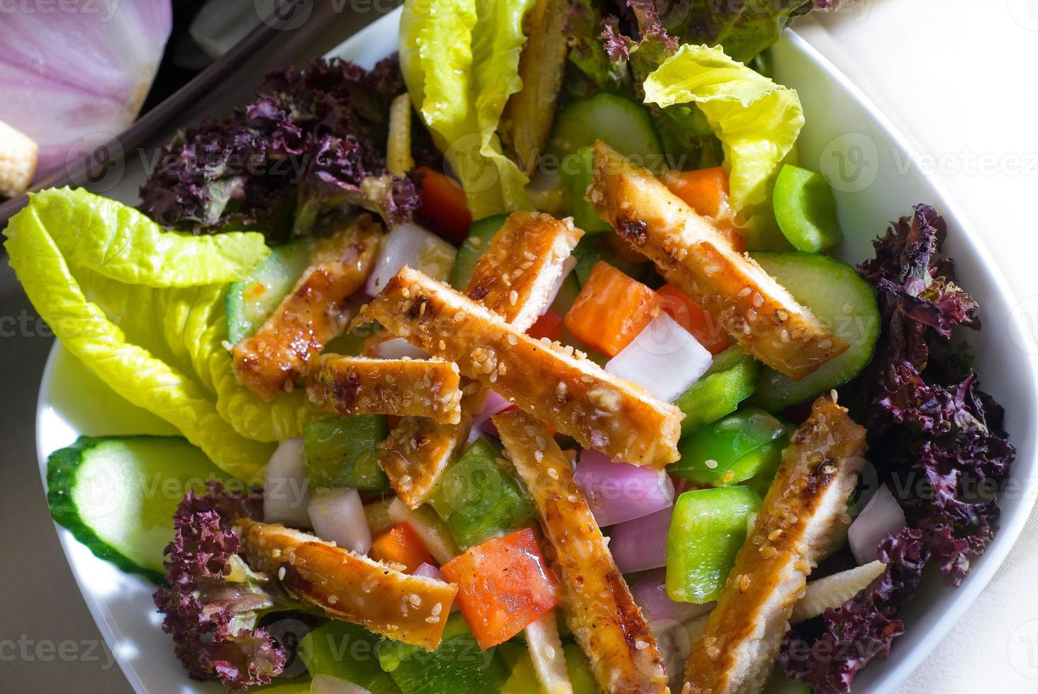 sesame chicken salad photo