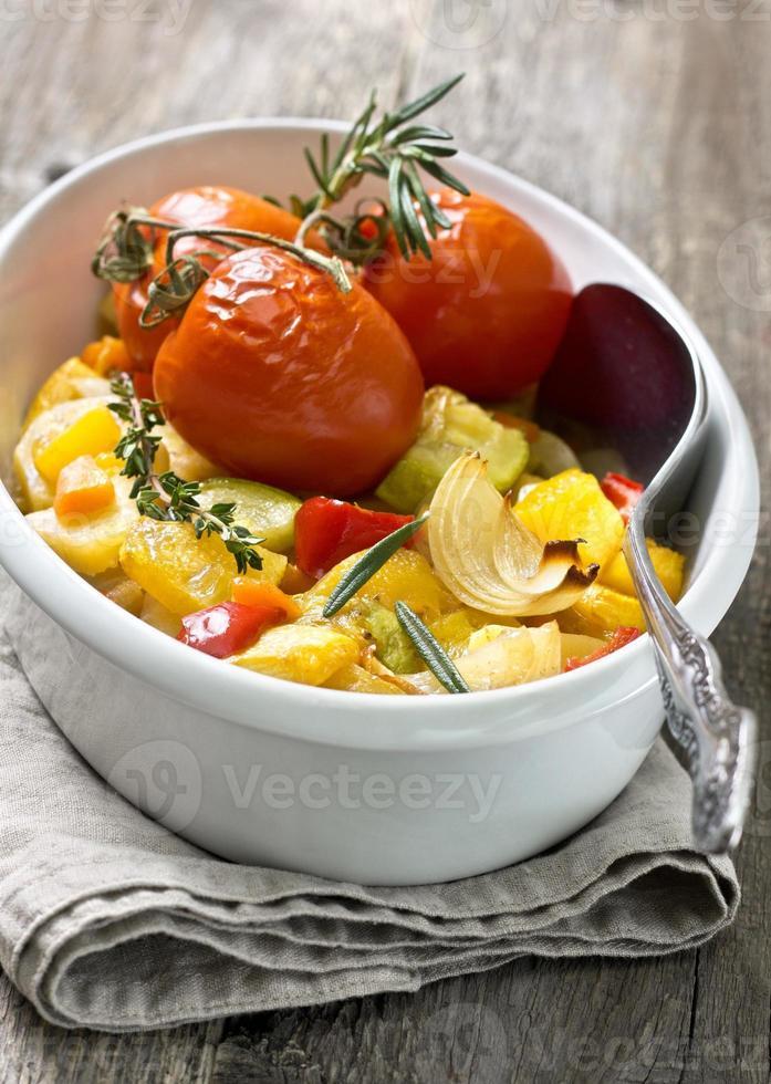 verduras asadas foto