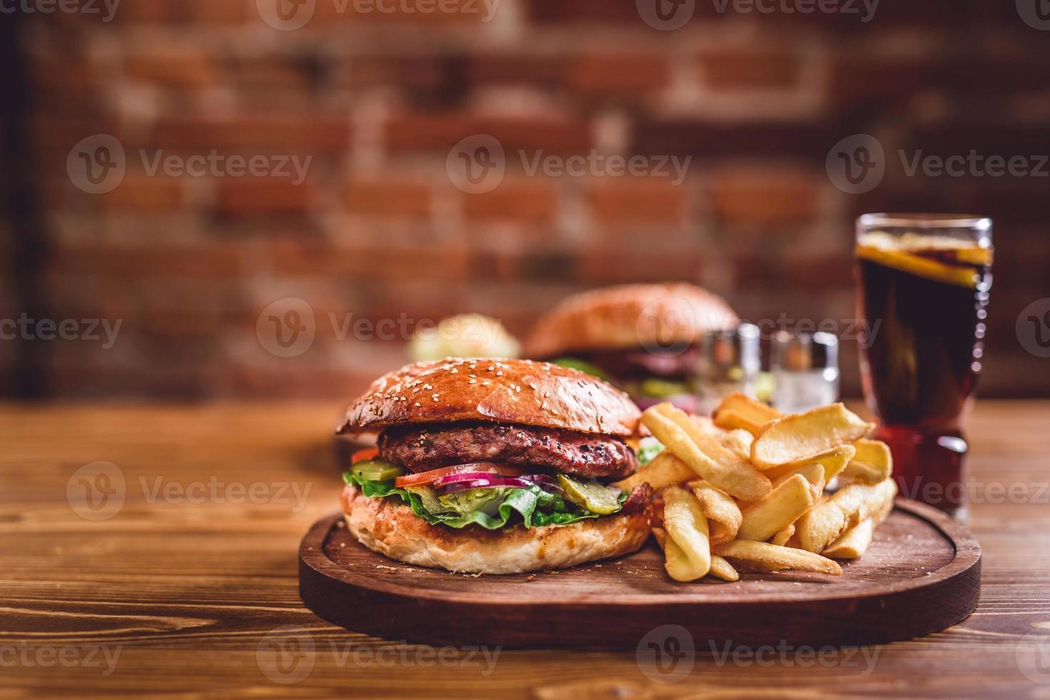 hamburguesa casera foto