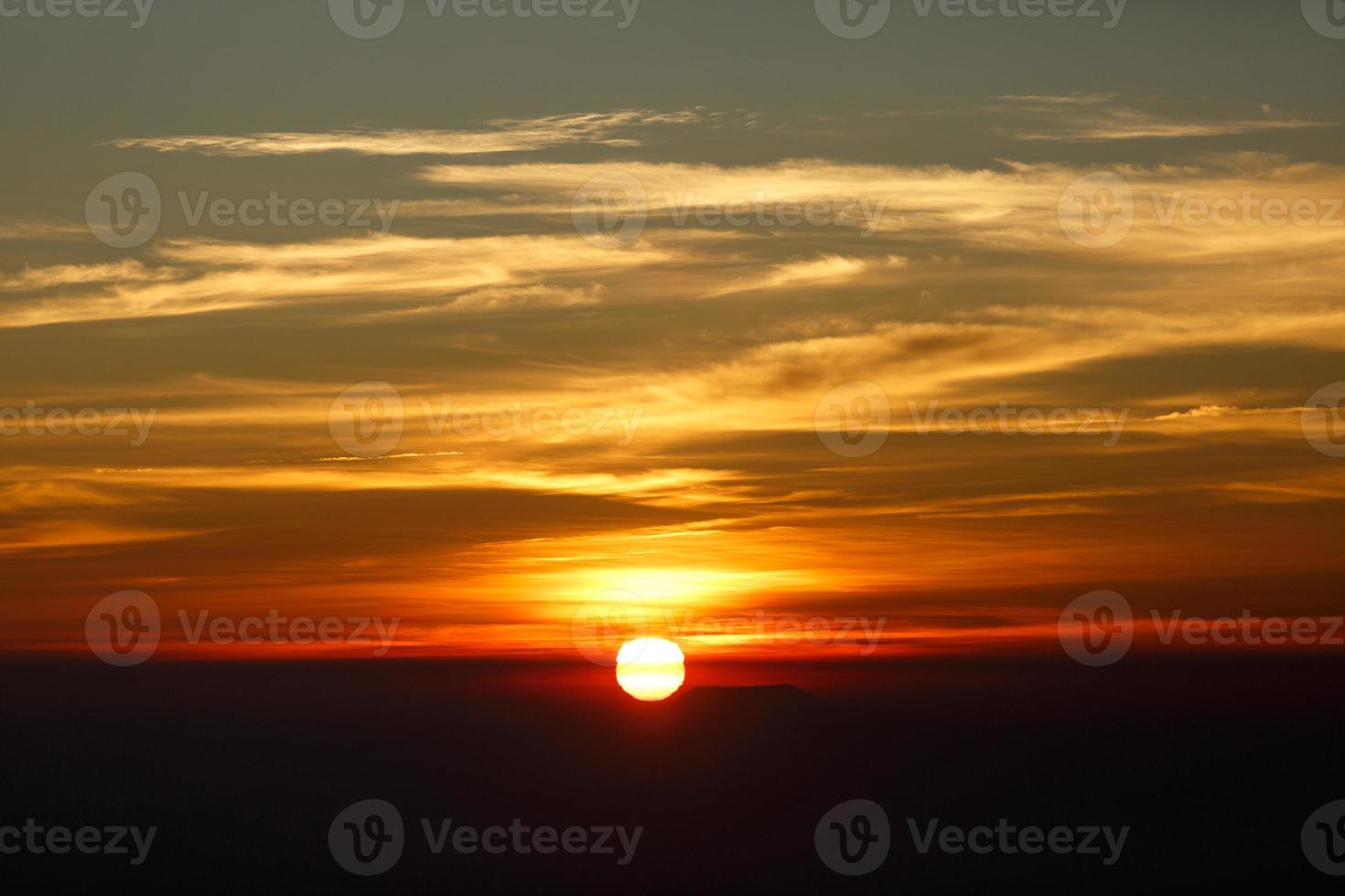 Sunrise, Sunset Sky Background. photo