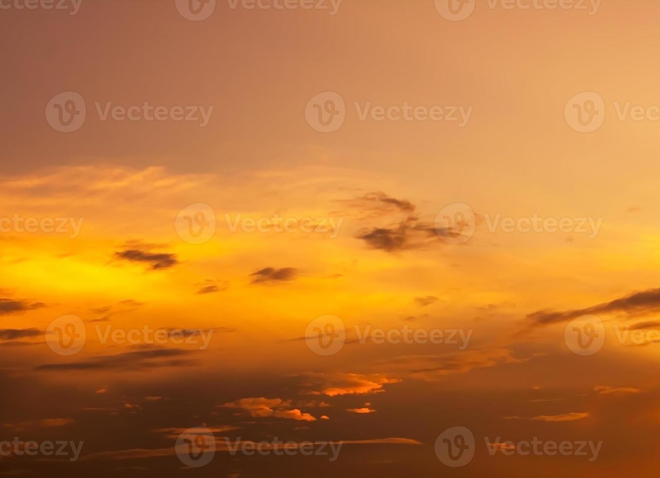 Fiery orange sunset sky photo