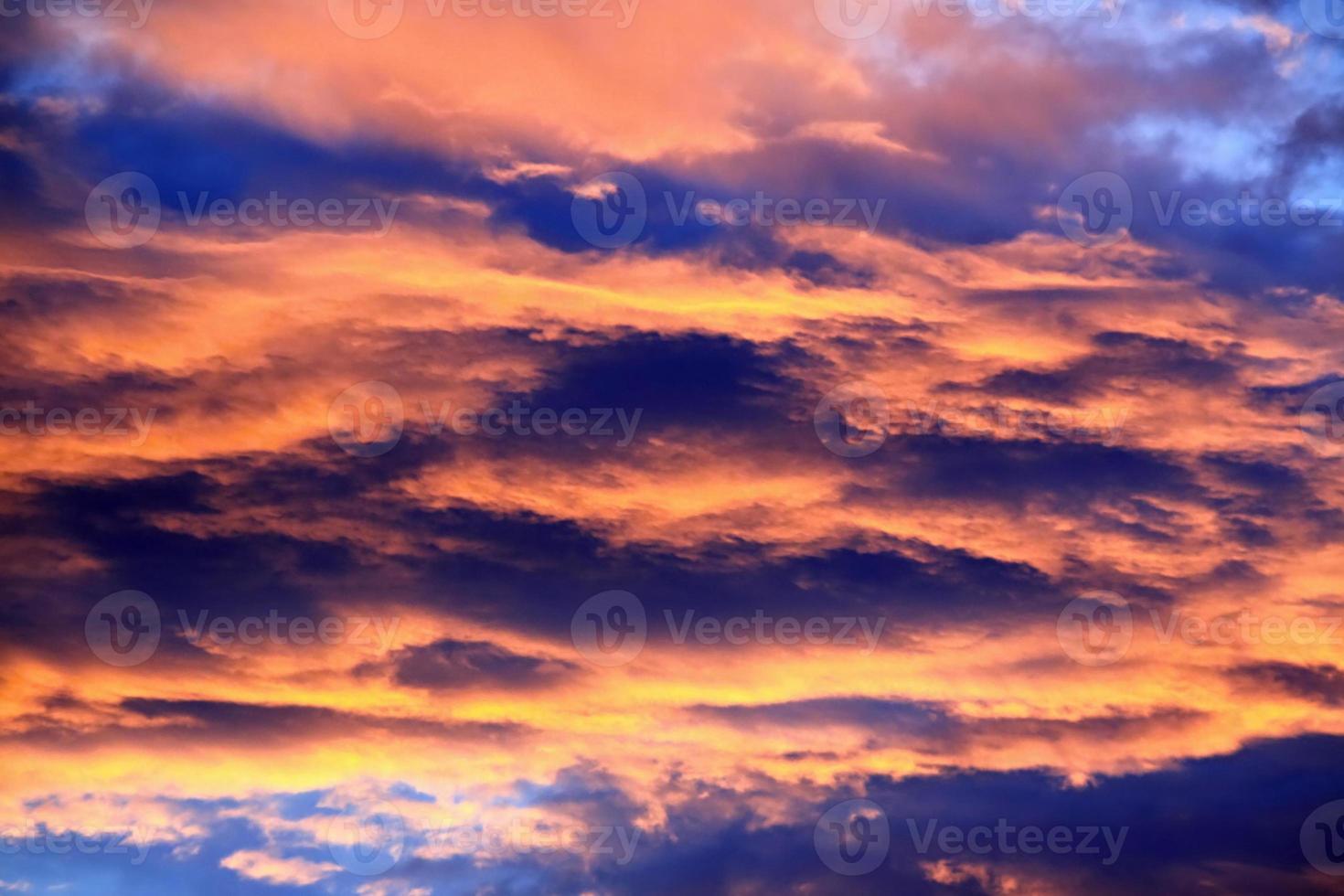 Beautiful colors sunset sky. photo