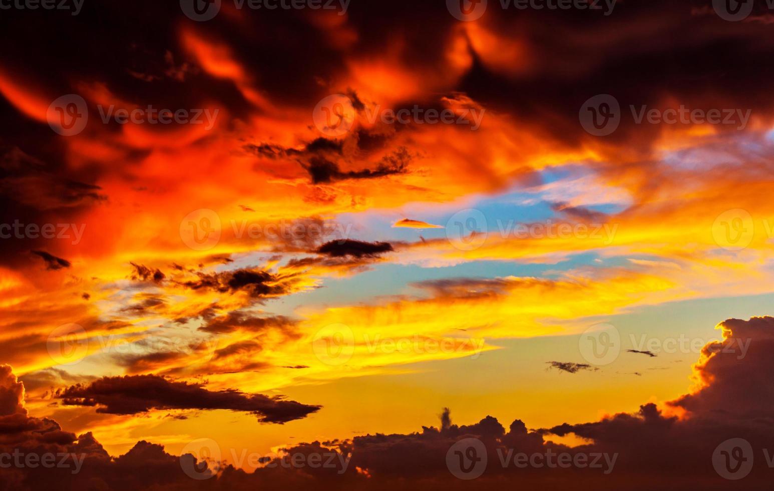 Amazing sunset sky background photo