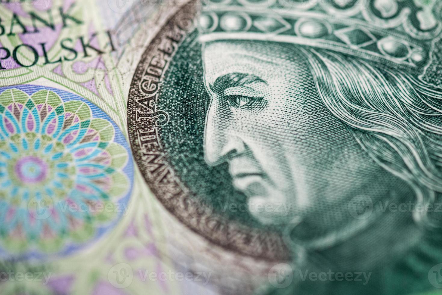 Polish paper money or banknotes photo