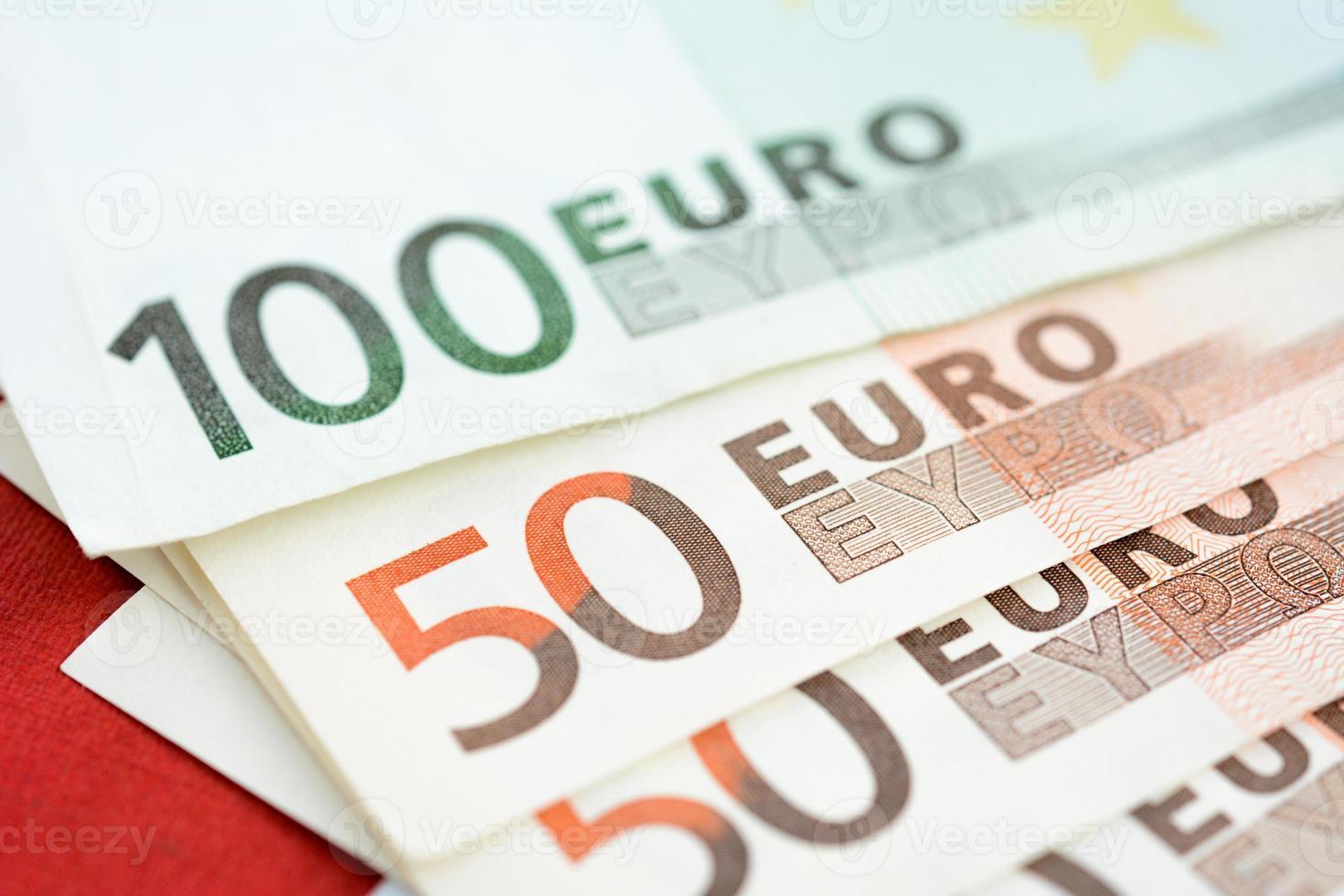 dinero, billetes en moneda euro (eur) foto