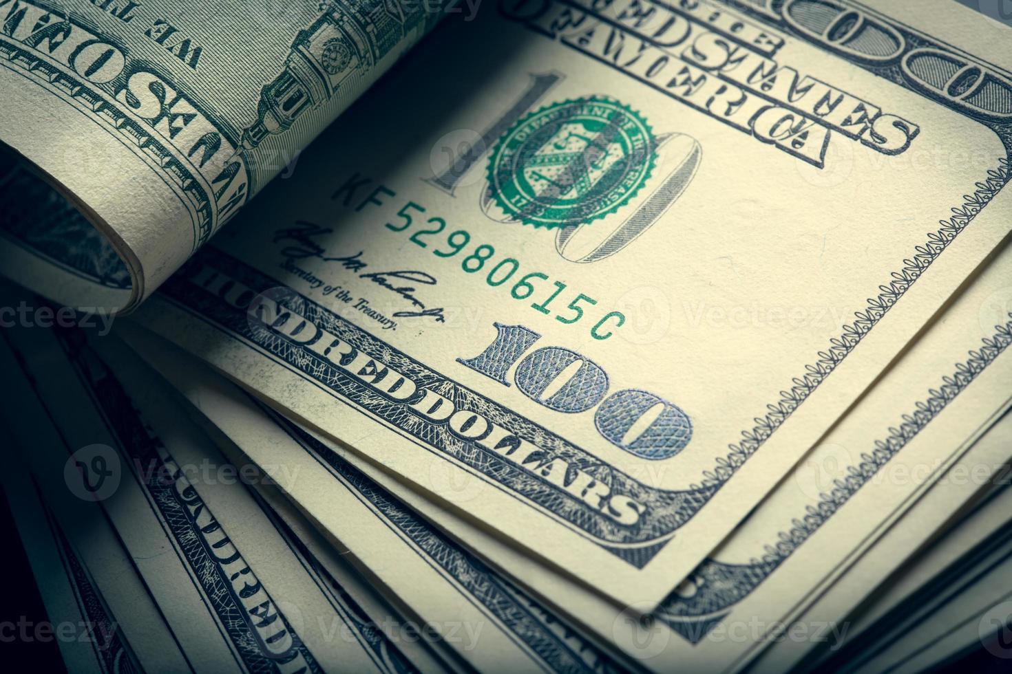 Money american hundred dollar bills photo