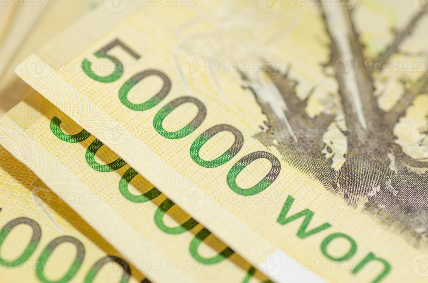 50000 won of Korea money photo