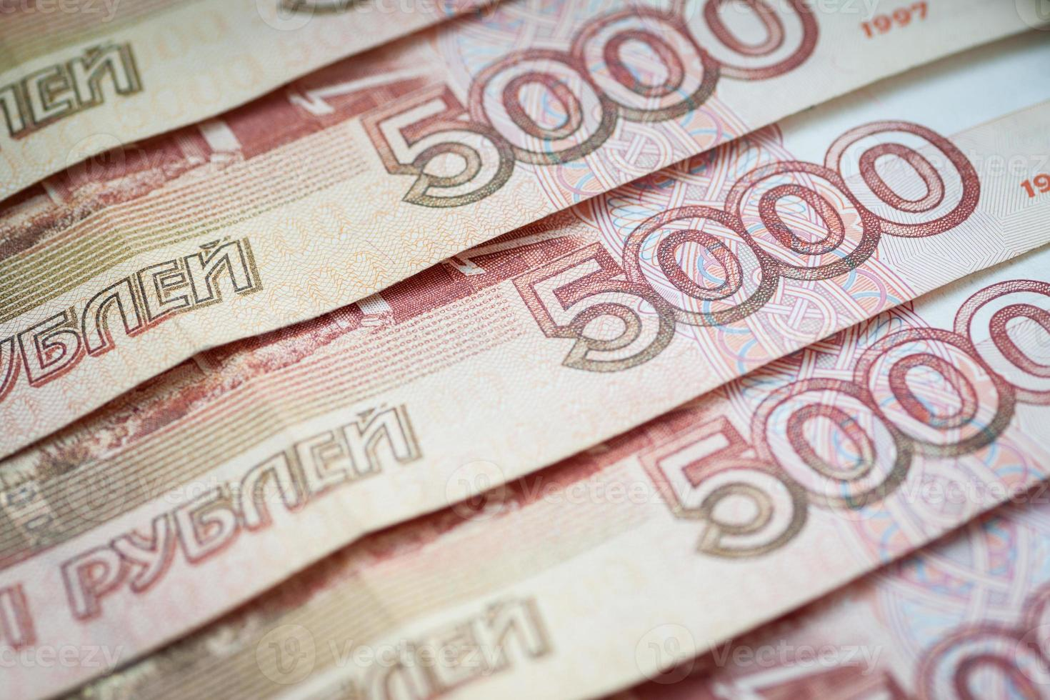 Background of russian rubles. photo