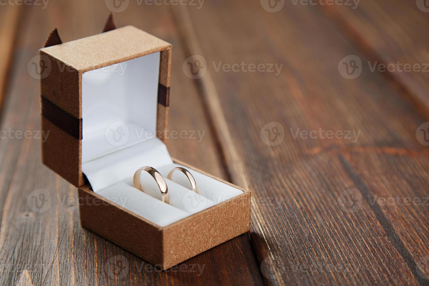 Wedding rings in the case photo