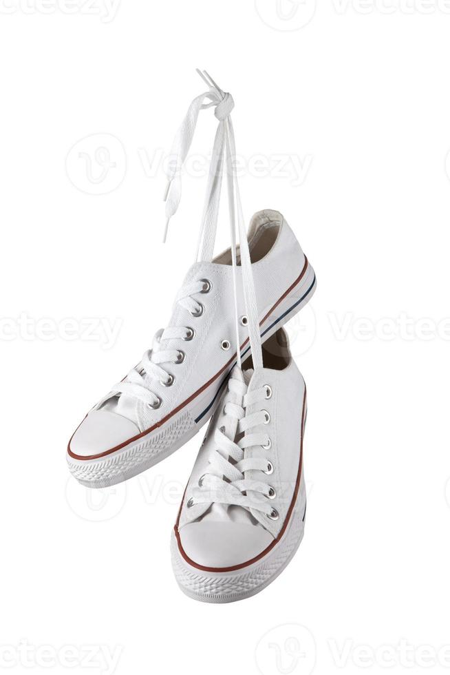Zapatillas blancas foto