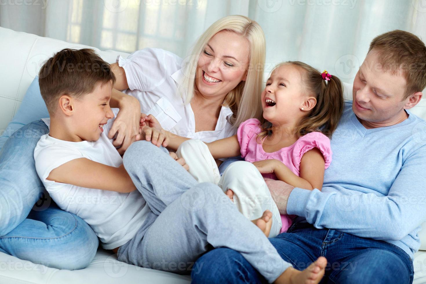Playful family photo