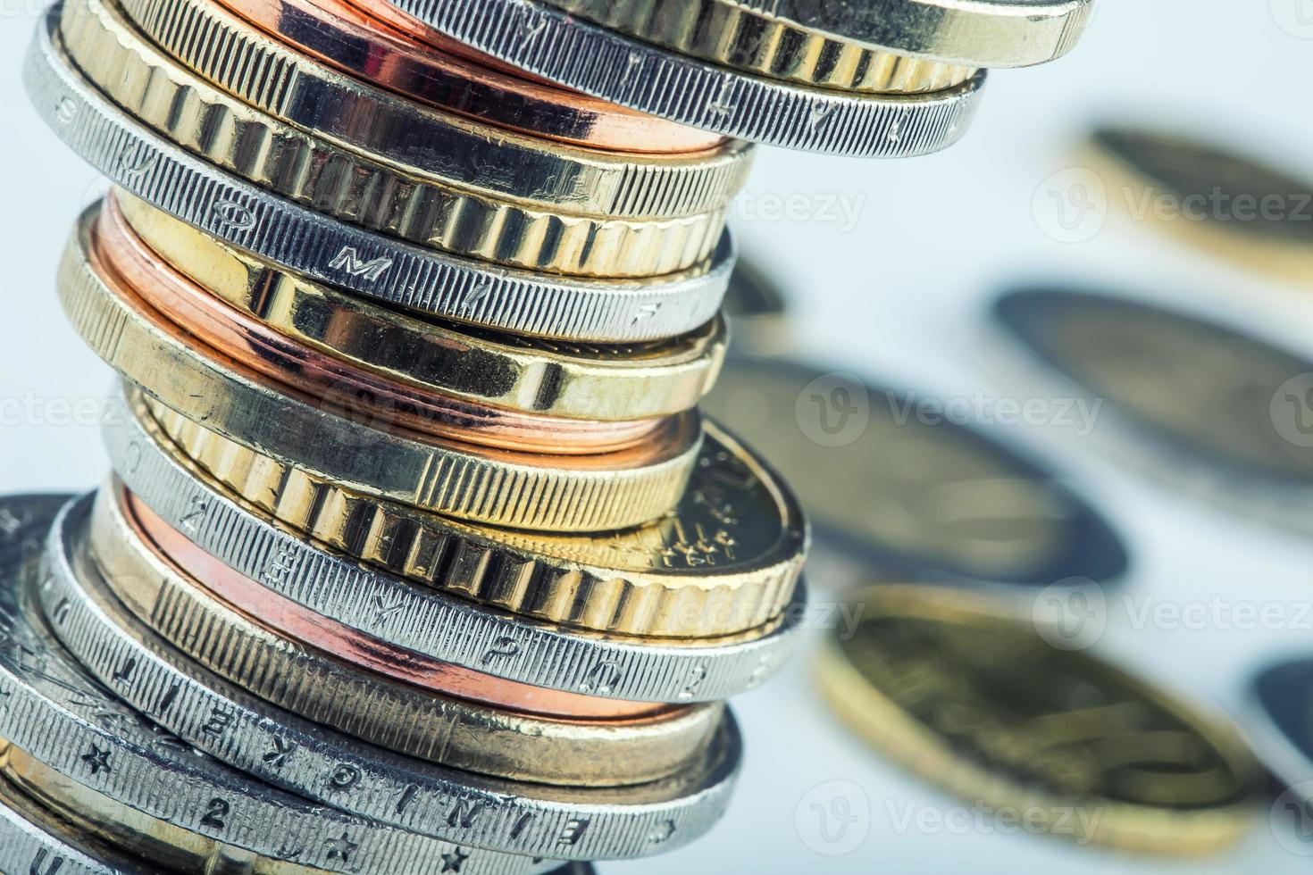 Euro coins. Euro money. Euro currency. photo